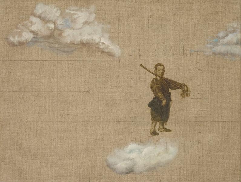 Boy with Clubbed Foot and Clouds